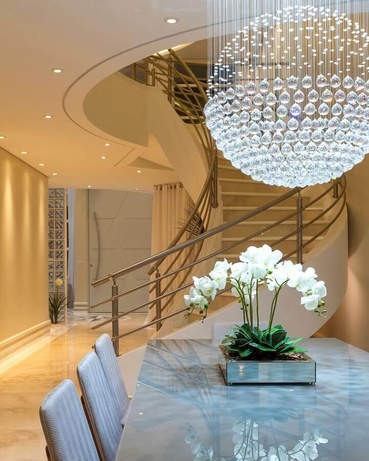 lustre de cristal para quarto para sala de jantar Foto Iara Kilaris Decoradora
