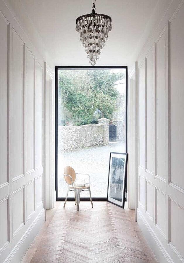 lustre pendente cristal para decoração de corredor Foto Pinterset