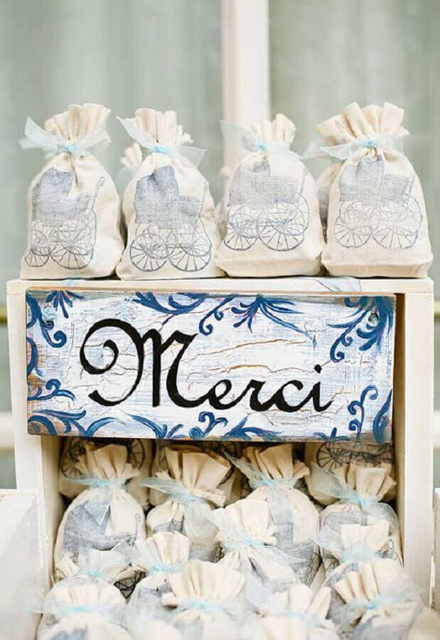 modelo de embalagem para lembrancinha de chá de bebê Foto Pinosy