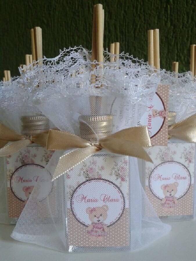 modelo de lembrancinhas de chá de bebê  Foto Cheiro de Alegria