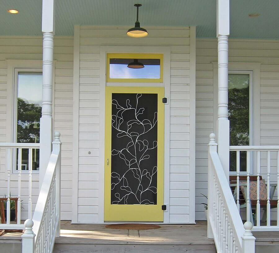 modelo de porta de entrada diferente Foto Niudeco Interior Designs