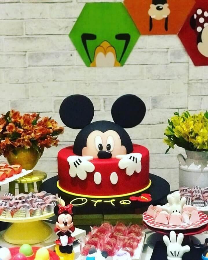 modelo divertido de bolo decorado do mickey Foto Estudio Kreativ