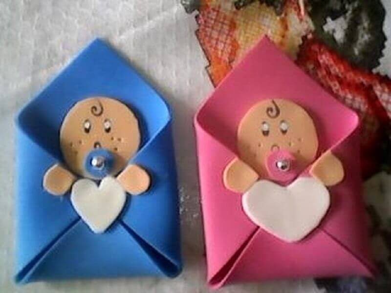modelo simples de lembrancinhas de chá de bebê de eva Foto Pinterest