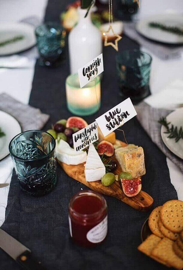 plaquinhas para decoração de mesa de frios e frutas para festa Foto Pinterst