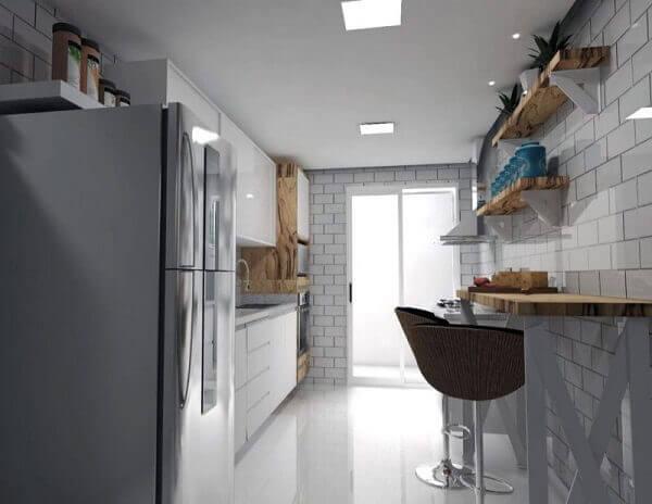 porcelanato líquido branco na cozinha