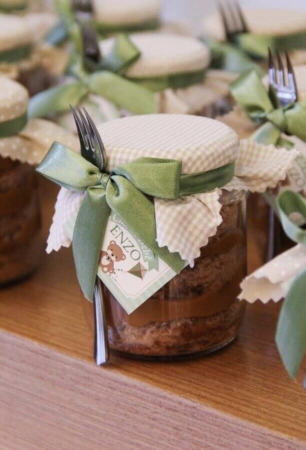 potinhos de doce como lembrancinha chá de bebê menino Foto Pinosy