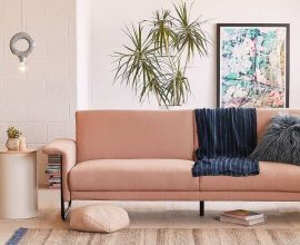 sofás modernos rose para decoração romântica de sala  Foto Cut & Paste