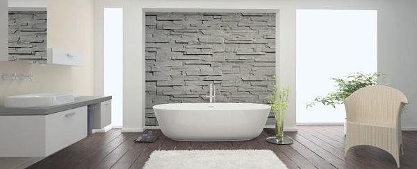 tapete para banheiro na cor branca