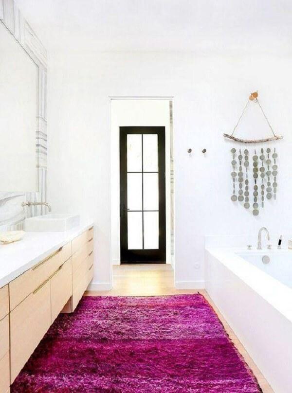 tapete para banheiro pink