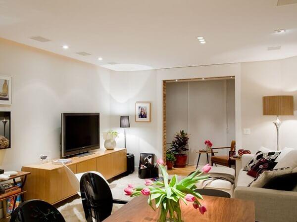 As plantas para sala decoram o espaço