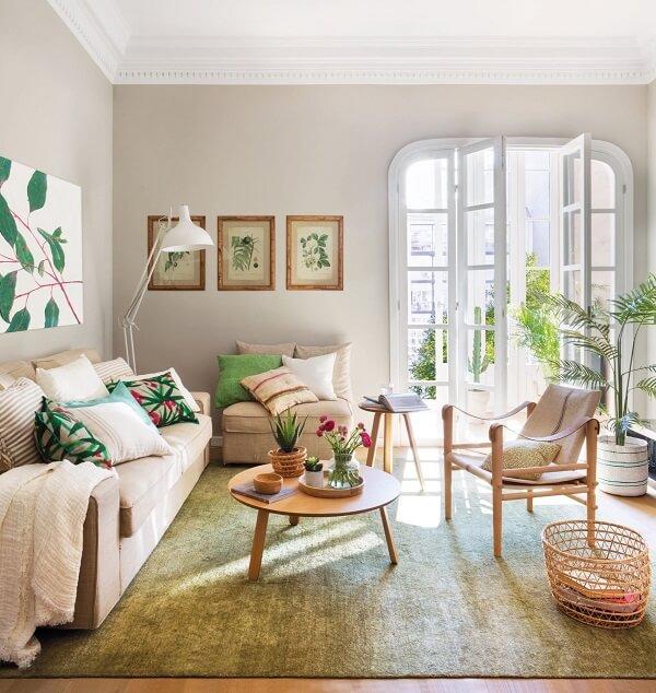 As plantas para sala são a inspiração na decoração