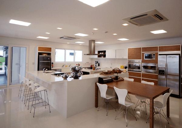 Cozinha na casa da Ana Hickmann