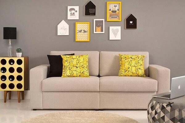 Decoração de sala simples e barata com estilo jovem