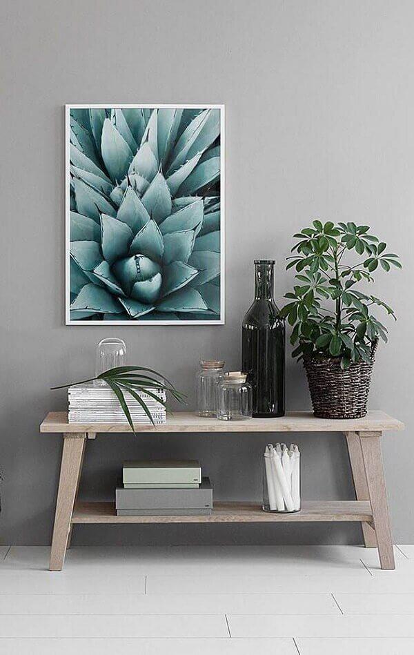 Decoração de sala simples e barata com mesa baixa para o canto da sala