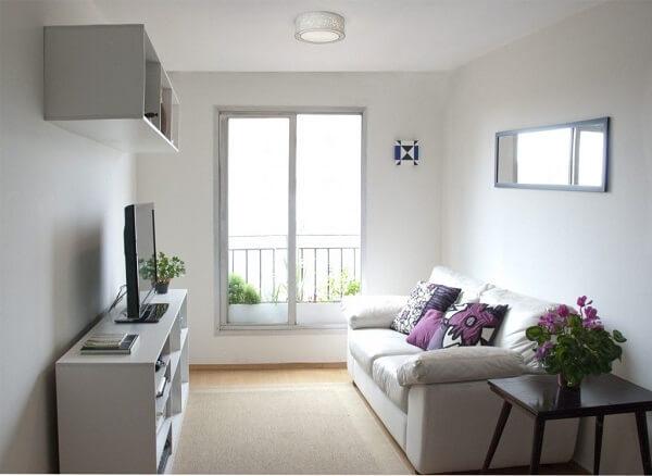 Decoração de sala simples e barato em estilo clean