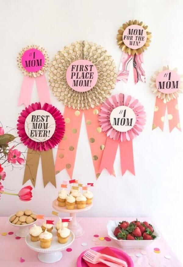 Mother's Day decoration with medals and ribbons