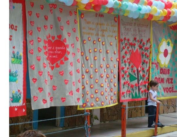 Decoraç u00e3o Dia das M u00e3es +67 Lindas Inspirações para Celebrar # Decoração Dia Das Maes Escola