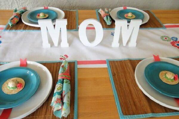 Decoração dia das mães mesa delicada