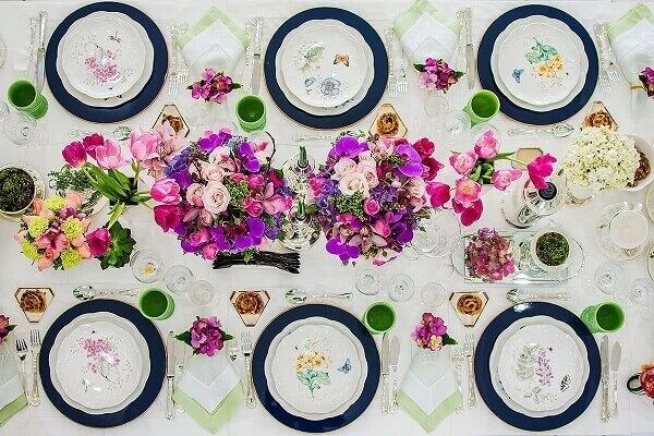 Decoração dia das mães mesa posta
