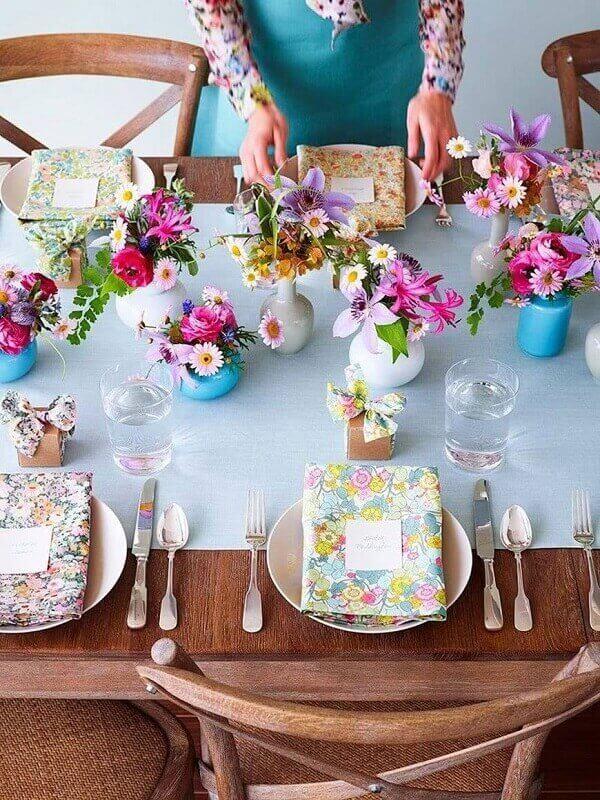 Decoração dia das mães mesa sofisticada
