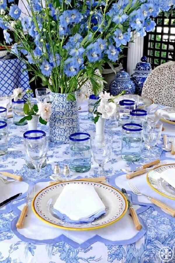 Decoração dia das mães na cor azul