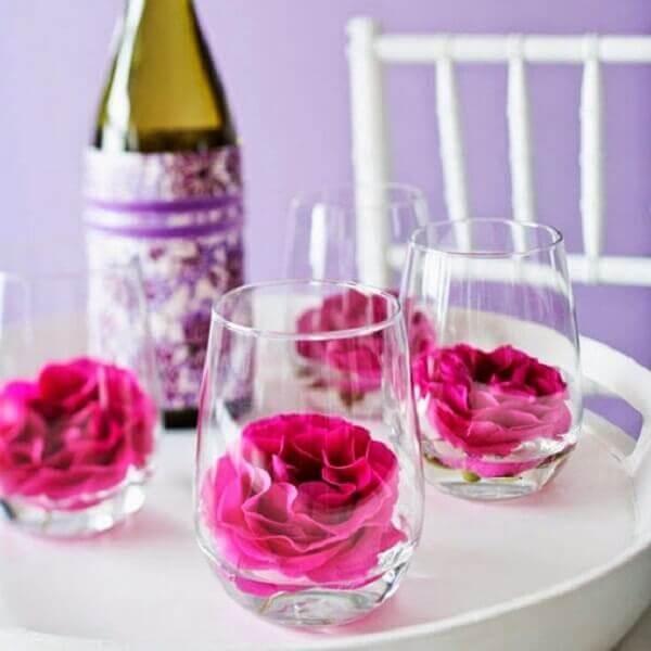 Decoração dia das mães para mesa