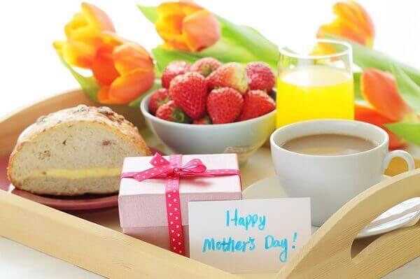 Decoração dia das mães para o café da manhã