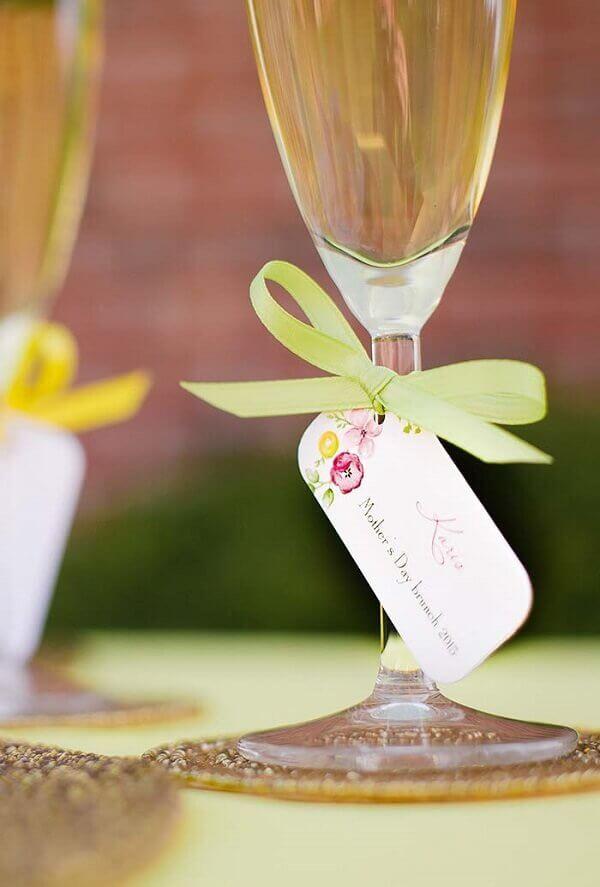 Decoração dia das mães tags em taças