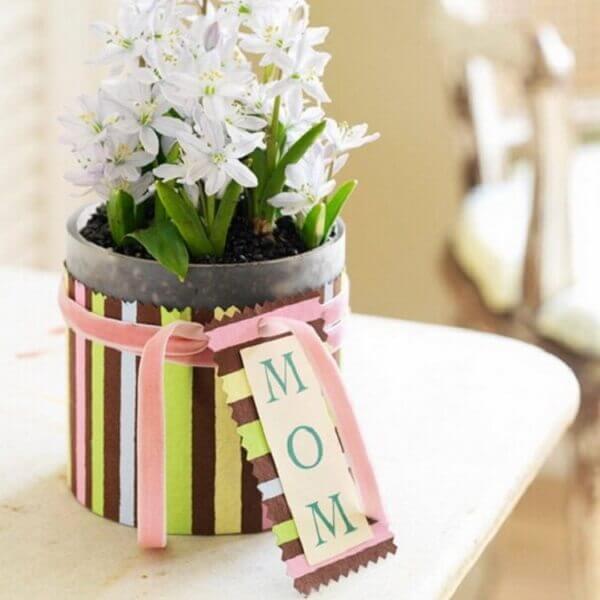 Decoração dia das mães vasinho de flor