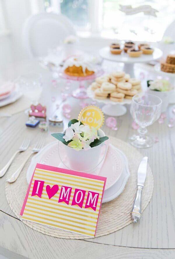 Decoração dias mães mesa delicada