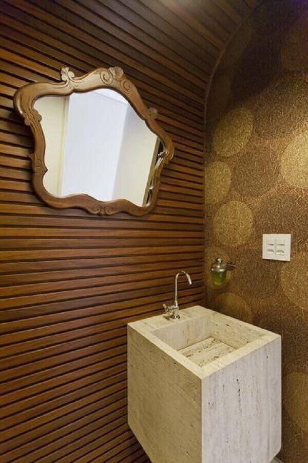 Papel de parede para lavabo com pouco espaço