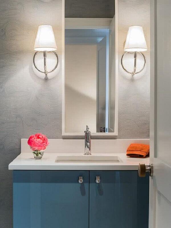Papel de parede para lavabo com relevo
