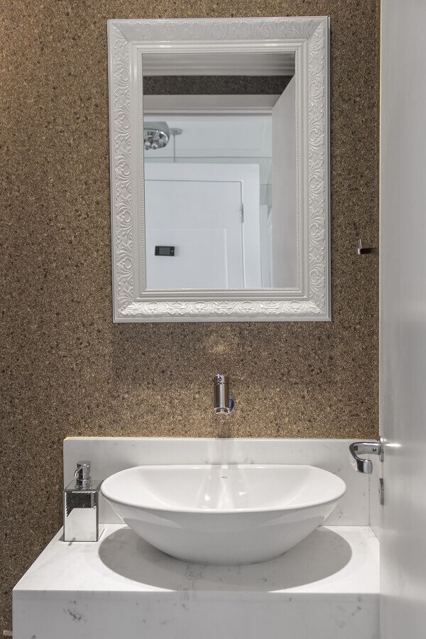 Papel de parede para lavabo cortiça