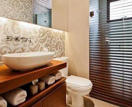 Papel de parede para lavabo moderno