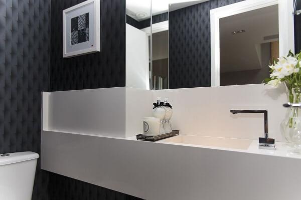 Papel de parede para lavabo nem cor escura