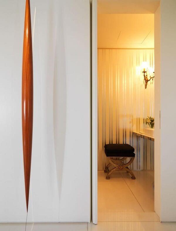 Papel de parede para lavabo sofisticado