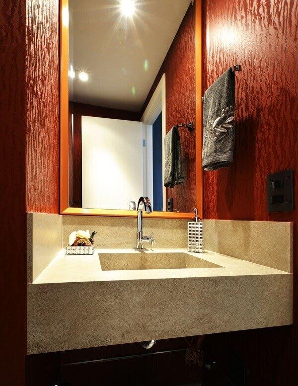 Papel de parede para lavabo vinho