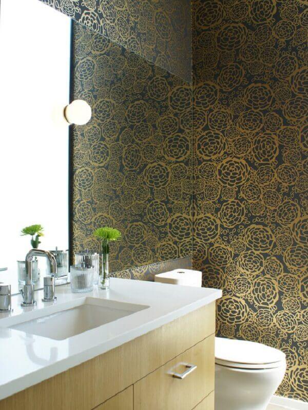 Papel de parede para lavabo vinílico