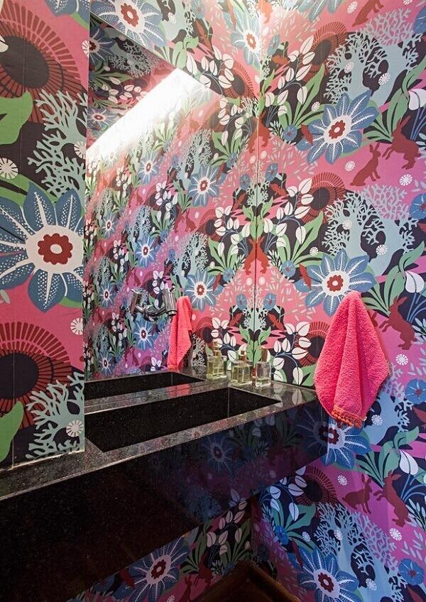 Papel de parede para lavabo