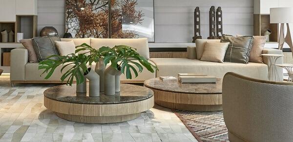 Plantas para sala na mesa de centro