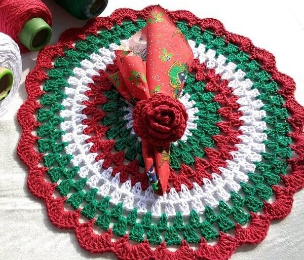Sousplat com design natalino