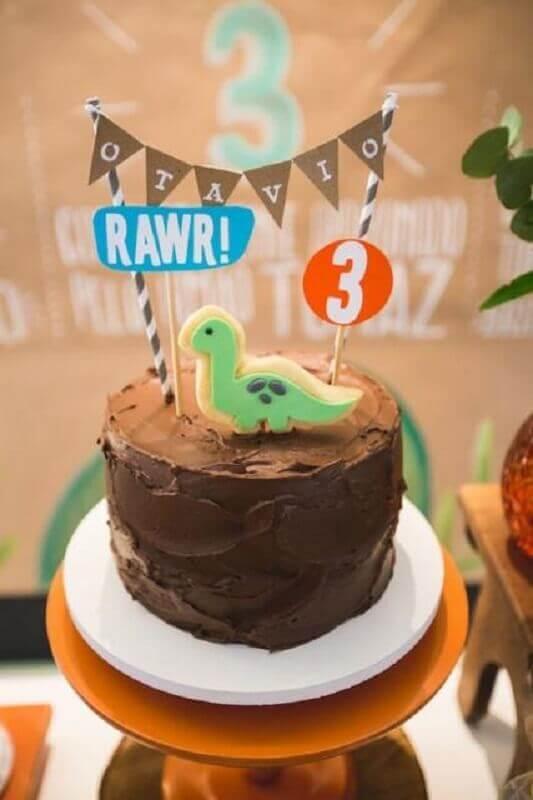 bolo mesversário com tema dinossauros Foto Parties and Picnics
