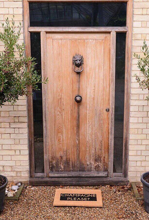 capacho de porta divertido escrito champagne please Foto Pinterest