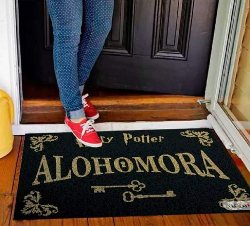 capacho de porta divertido inspirado no harry potter Foto Irléia Marotte