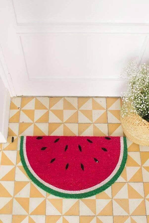 capacho divertido de melancia Foto Pinosy