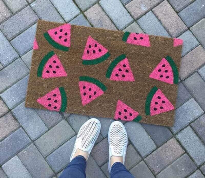 capachos divertidos com estampa de frutas Foto Etsy