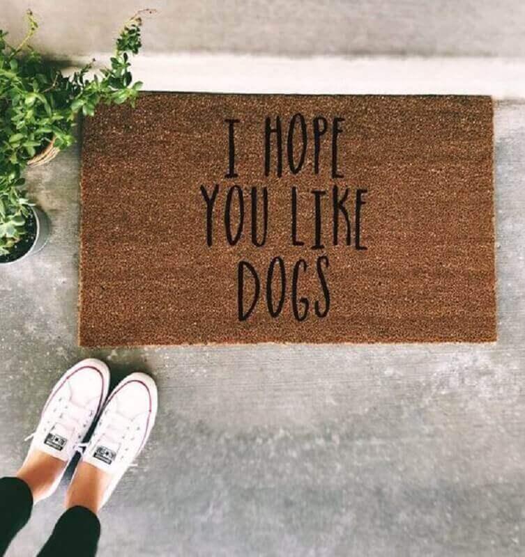 capachos divertidos para quem tem cachorros em casa escrito I hope you like dogs Foto Air Freshener