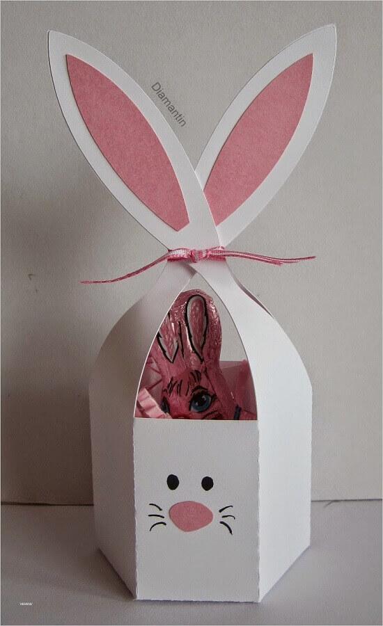 cesta de em formato de coelho para lembrancinha de páscoa Foto Pinterest