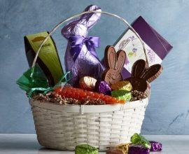cesta de páscoa bonita