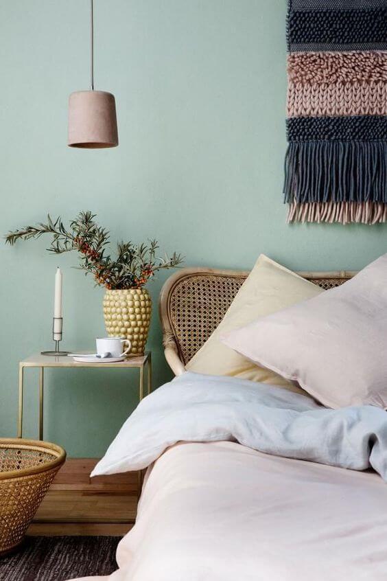Cores de tintas claras para quarto
